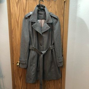 Calvin Klein Belted Wool Trench
